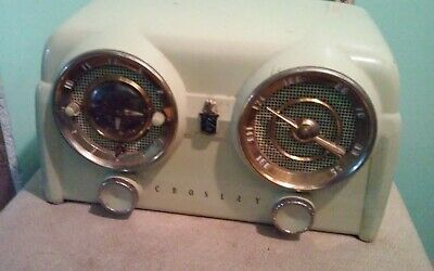 Vintage Crosley Bakelite Radio With Clock Works Different Color