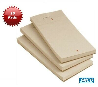 10 CAFE Pub BAR Takeaway FOOD ORDER PAD Single Ply WITH TEAR OFF 100 Sheets SMCO