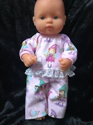 Dolls clothes made to fit 32cm Miniland  Dolls (size Small).  Pyjamas