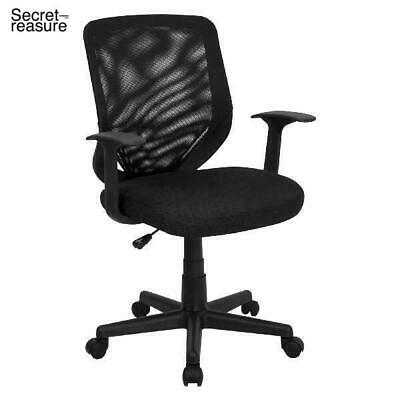 Vecelo Premium Mesh Chair With 3d Surround Padded Seat Cushion For Task Desk Home Office Work Black Task Chairs Office Products Chairs Sofas