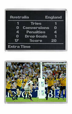 2003 RUGBY WORLD CUP FINAL SCOREBOARD / WILKINSON WINNER Fridge Magnets Set