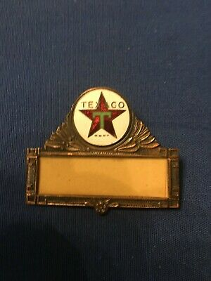 Texaco  name tag or also called Hat Badge