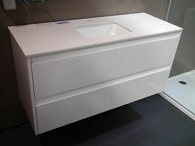 Melbourne Bathroom 1200 Wall Hung Vanity with Stone Top Undermount Basin, BV04UM