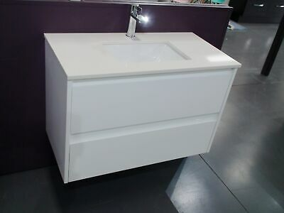 Melbourne Bathroom 900 Wall Hung Vanity with Stone Top Undermount Basin, BV04UM