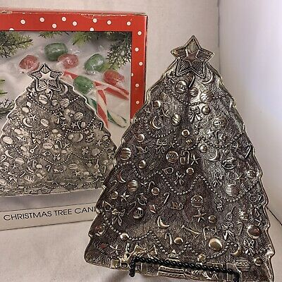 International Silver Company - Christmas Tree Candy Dish - Silverplated (Used)