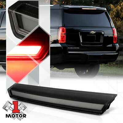 Black/Smoke 3D[LED BAR]Rear Third 3rd Brake Light Lamp for 15-20 Suburban/Tahoe