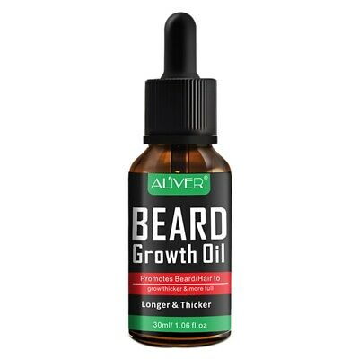 5X(ALIVER Natural Beard Growth Oil Essential Fuller Thicker Beard Organic M 2O1)