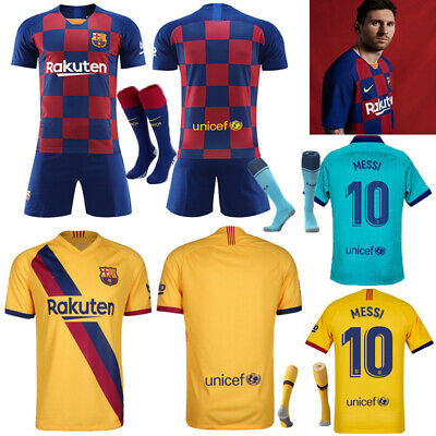 19-20 MESSI Football Soccer Kid Jersey Strips Custom Adult Kid Boy Training Suit