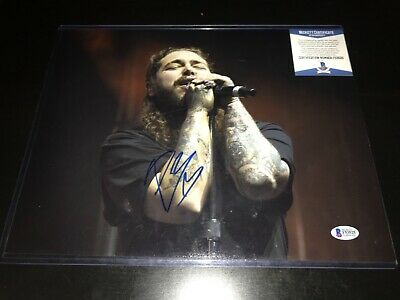 Post Malone Signed 11X14 Photo BAS Beckett COA Rapper Autograph