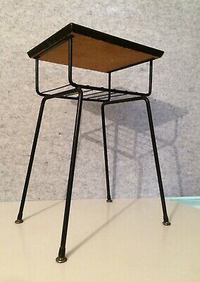 Vintage Mid Century wrought iron bedside telephone hall table Clement Meadmore?
