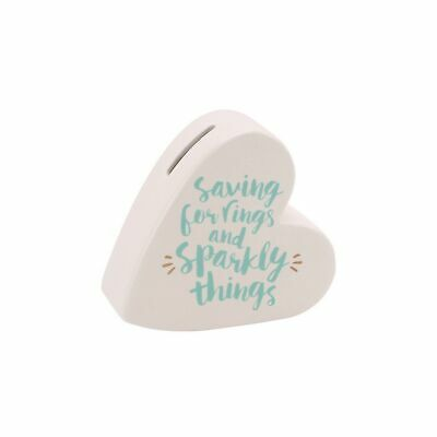 CGB Giftware Oh So Pretty Sparbüchse in Herzform Saving For Rings And (CB775)