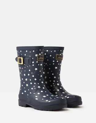 Joules AW19 Junior Girls Printed Welly in Navy Stars