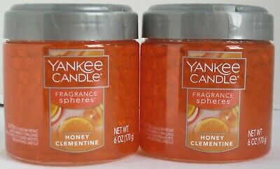 Yankee candle Fragancia Esferas Olor Neutralizante Beads Lote 2 Miel Clementine