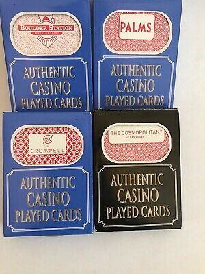 4 Authentic Casino Played Cards Las Vegas Style Nevada Sealed Box