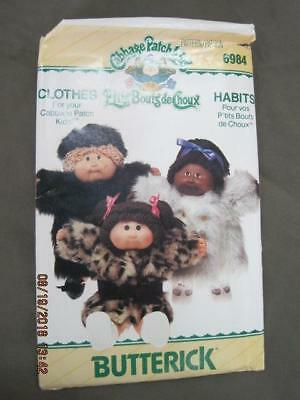 UNCUT CABBAGE PATCH KIDS Clothes Butterick Sewing Pattern 6984 $3.00 1984