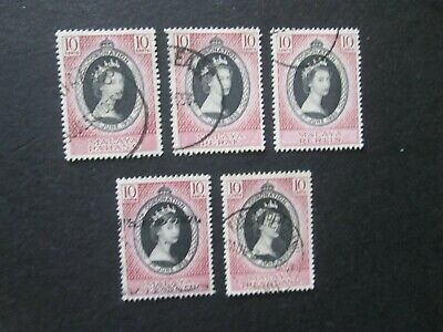 Coronation 1953 x Five Nice used Issues-Read all below descriptions.Lot 2/2.