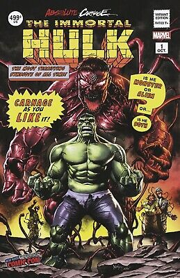 🔥Absolute Carnage Immortal Hulk #1 Nycc Mico Suayan Variant 🔥 Sold Out 🔥