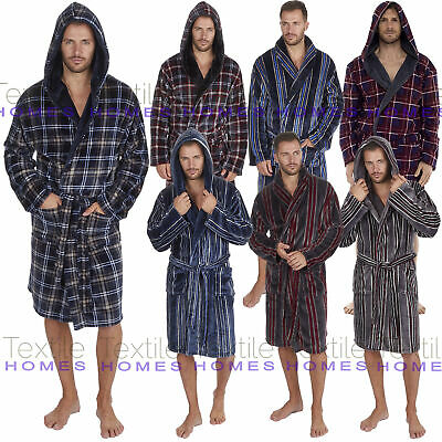 Mens Supersoft Bath Robe Dressing Gown Gents Fleece Warm Winter Style Housecoat