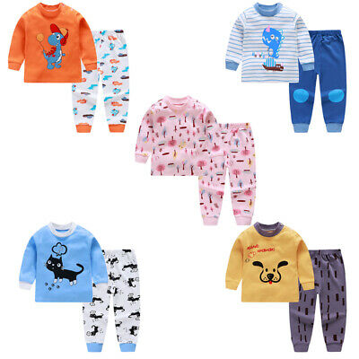 Toddler Infant Kids Baby Boys Tops Pants Clothes Set Pajamas Homewear Outfits