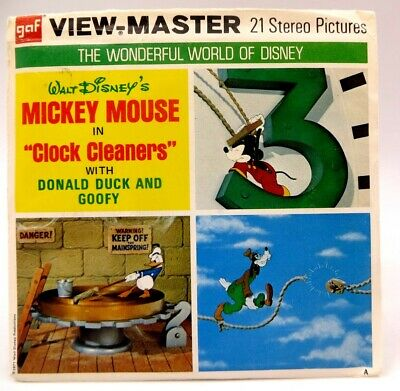 View-Master B551, World of Disney, Mickey Mouse in Clock Cleaners, 3 Reel Set