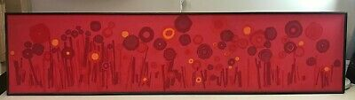 Tom Tru MCM Mid Century Modern Abstract Tapestry Textile Fabric Framed Wall Art