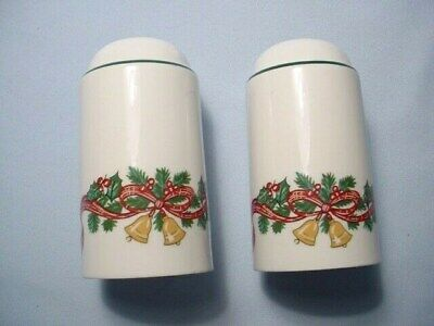 Johnson Brothers Victorian Christmas Salt & Pepper Shakers Made in England