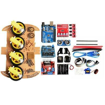 Smart Car Tracking Motor Robot Car Chassis 4 WD Ultrasonic For Arduino DIY Tools