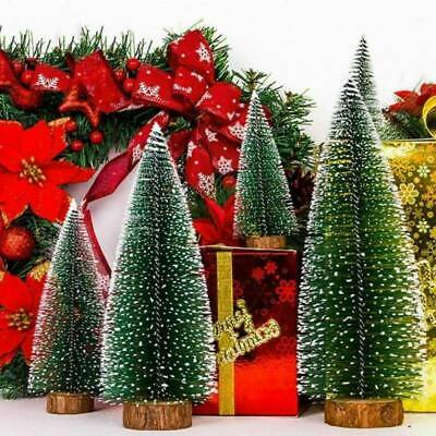 Mini Christmas Tree With LED Lights Ornaments Festival Table Decor Xmas Gift