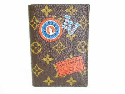 Auth LOUIS VUITTON Monogram Leather Brown Passport Cover ID Holders #7444