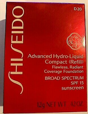 Shiseido Advanced Hydro-Liquid Compact Foundation Refill ~ D20, 0.42 Oz/ 12 mL