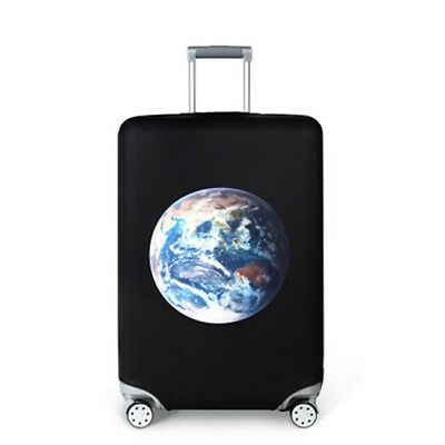 Earth Elastic Thick Luggage Cover Trolley Case Suitcase Dust Protector LL