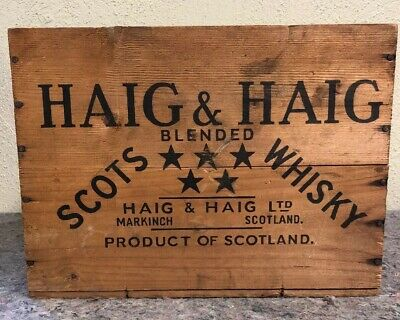 Vintage Haig & Haig Whisky Crate - Crate Only