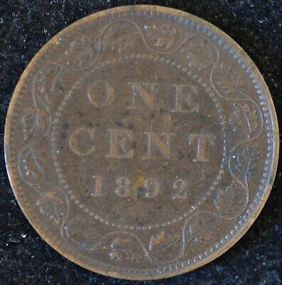 1892, obv. 4, VERY FINE Canadian Large Cent #1