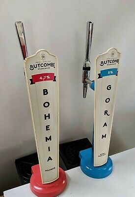 2 X Random Pink And Blue His And Hers Beer Pumps/Fonts Tap Handle Job Lot