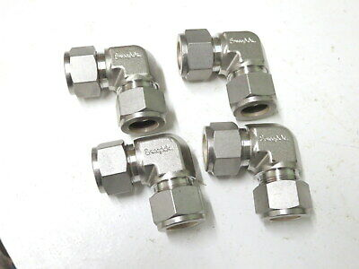 """SWAGELOK 316 ELBOW STAINLESS 5/8"""" x 5/8""""  x 4 off"""
