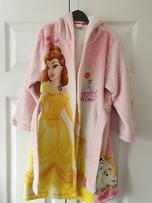 Girls Belle Disney Dressing Gown with hood Age 5/6