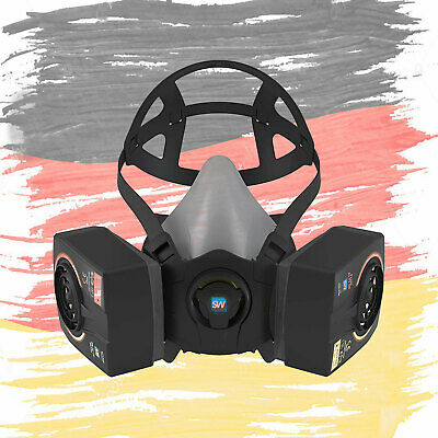German SolidWork SW9000 Reusable Paint Spray Gas Mask Safety Work Respirator
