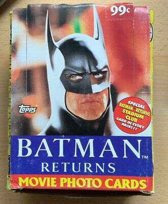 Topps - Batman Returns	Movie Photo Trading Cards Boxed - 1992 - 40 Packs