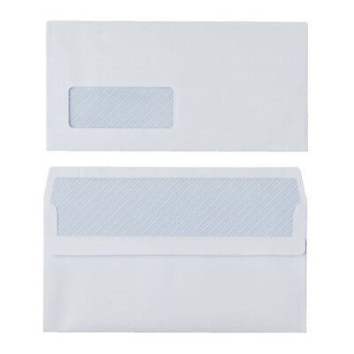 Box Of 1000 Dl 80 Gsm White Self Seal Business Envelopes Window
