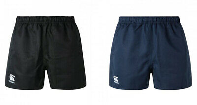 Canterbury Professional Cotton Rugby Shorts [White/Navy/Black] ADULT