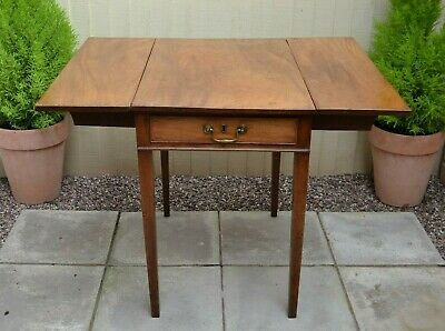 Lovely Antique Mahogany Pembroke Table Drop Leaf Farmhouse Rustic Table Drawer