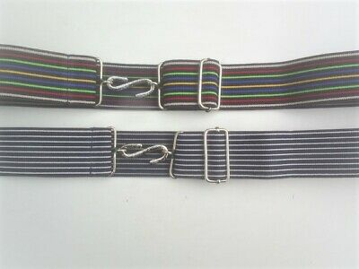 melford  brand   35 mm wide stripe snake belts   pin  or  deck chair stripe