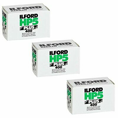 Ilford 1574577 HP5 Plus, Black and White Print Film, 35 mm, ISO 400, (3 pack)
