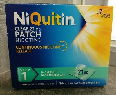 NIQUITIN CLEAR 21 mg Patch - Step 1 X 14 Patches - Brand New