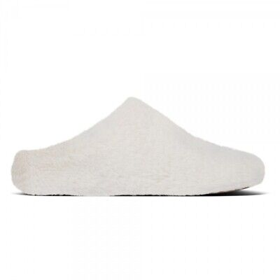 FitFlop FURRY Ladies Womens Faux Fur Cushioned Slip On Scuff Mule Slippers Mink