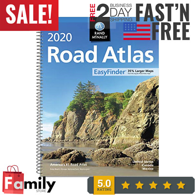 New USA Road Atlas 2019 BEST Large Scale Travel Maps United States NEW