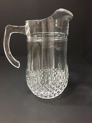 Vintage Crystal Diamond Pattern Water Pitcher 48 Ounces