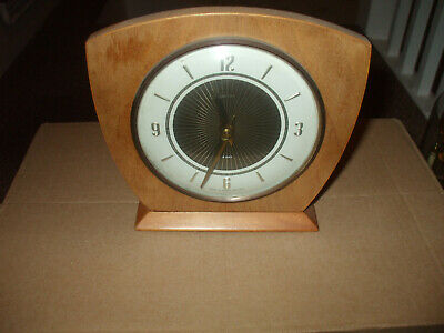 """smiths 8 day  mantle clock 6 .5"""" tall 8 day works"""