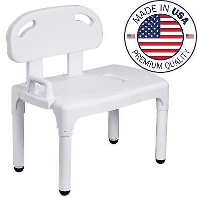 Medical Shower Transfer Bench, Bath Chair with Patented Height Adjustment