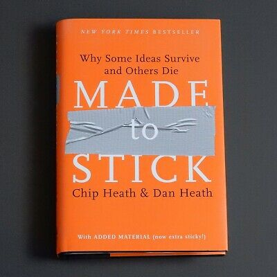 """MADE TO STICK"" Book, Why Some Ideas Survive and Others Die"